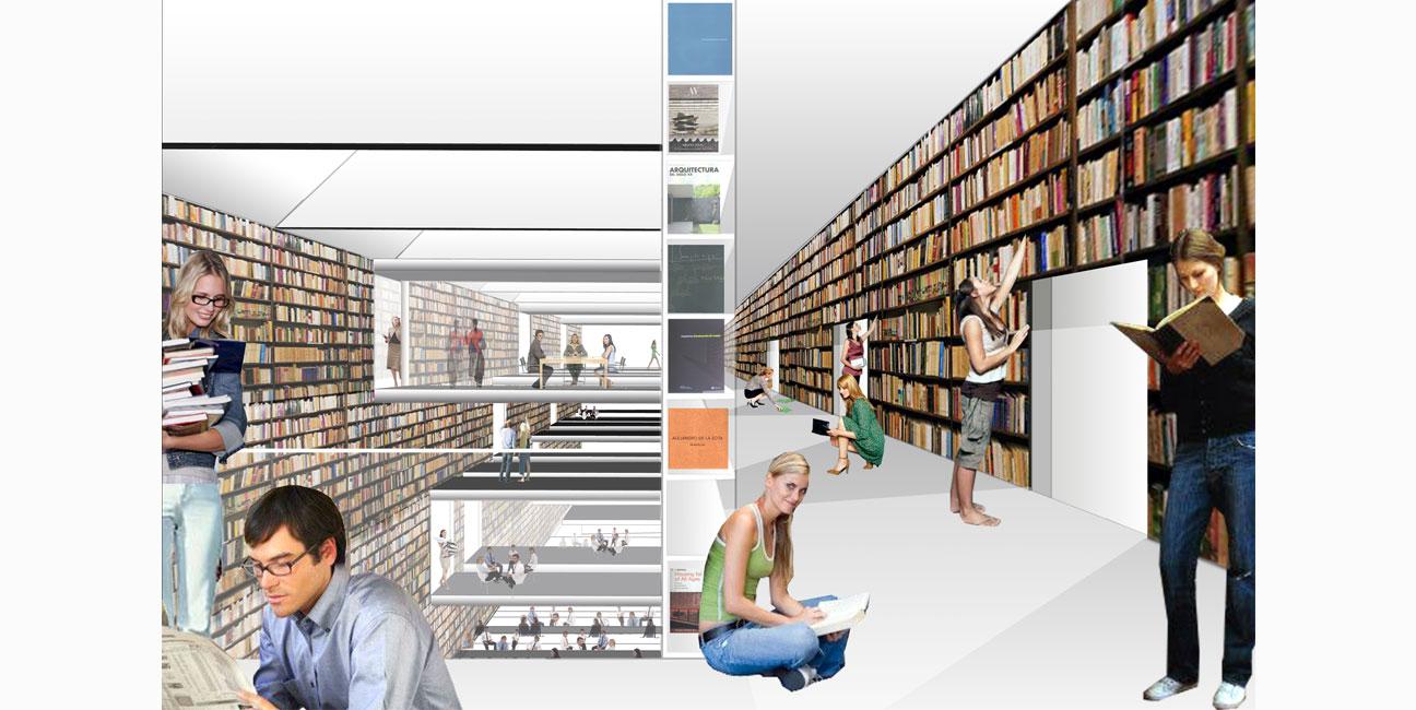 IGNACIO BORREGO Biblioteca de la Universidad de Alcalá, Madrid. Concurso 1er Premio. 2007-2013
