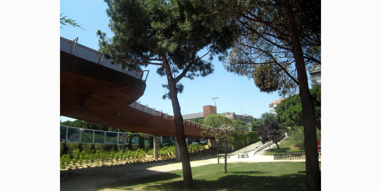 2 Pasarelas sobre la M-30, Madrid IGNACIO BORREGO 2006-2009